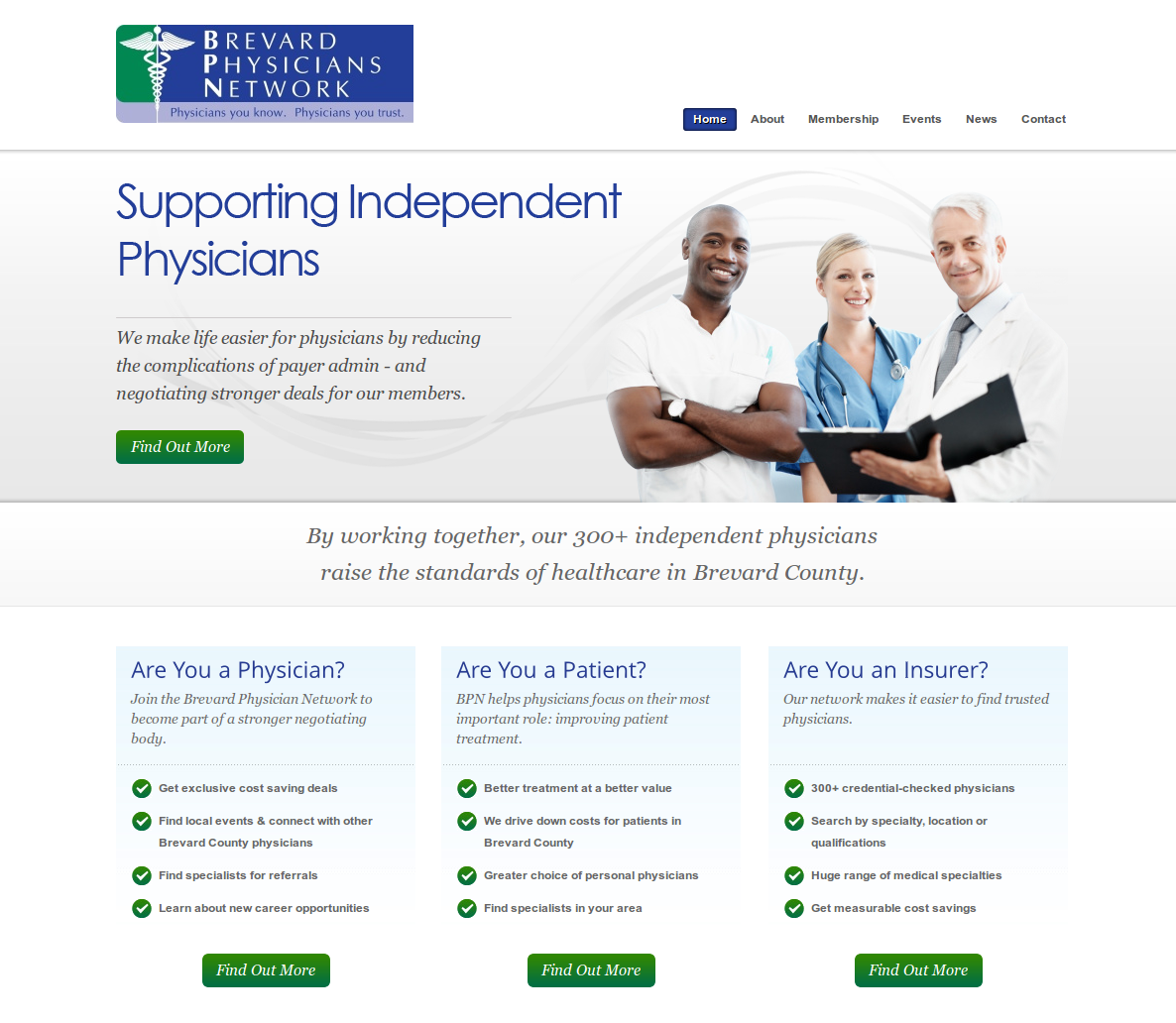 Brevard Physicians Network homepage